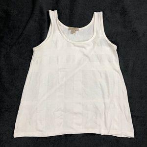 Burberry Womens Tank Top Sz S Knit White B2241